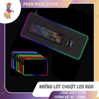 Miếng lót chuột LED RGB Sharkoon bàn di chuột led 7 màu đơn và 3 hiệu ứng ánh sáng chống trượt Phặn Phặn - Miếng lót chuột LED RGB thumbnail