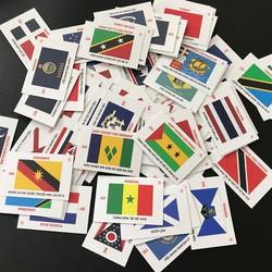 Bộ flash card 361 lá cờ quốc kỳ của các quốc gia vùng lãnh thổ dùng để dạy học, chú thích cho bộ sưu tầm tiền - TMT Collection - SP002399