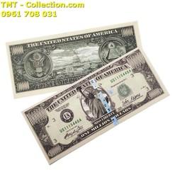 Tiền lưu niệm 1 triệu USD dạ quang có dây bảo an biến đổi quang học, phát quang dưới tia UV tím Kích thước 15,5 x 6,5cm – SP002397