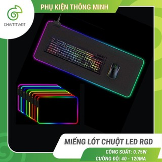 Miếng lót chuột LED RGB Sharkoon bàn di chuột led 7 màu đơn và 3 hiệu ứng ánh sáng chống trượt Chammart - Miếng lót chuột LED RGB thumbnail