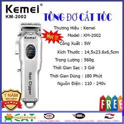 Tông đơ cắt tóc chấn viền cao cấp Kemei 2002