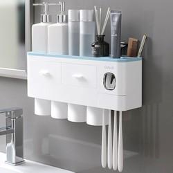 Kệ để đồ phòng tắm đa năng lắp đặt dính tường kèm cốc từ tính - OEKEM Bộ Nhả Kem Đánh Răng Tự Động OENON,