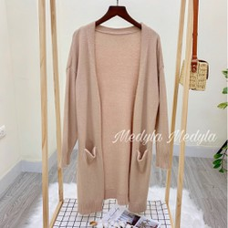 Áo Cardigan dáng dài thu đông dày dặn - Áo khoác len dài có túi hot 2020 - CDG - Được Kiểm Hàng