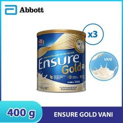 Combo 3 lon sữa bột Ensure Gold Vani 400g