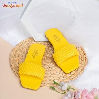 Dép nữ quai ngang đế bệt big size màu vàng depvashock - 222-vàng thumbnail
