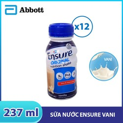 Combo 12 chai sữa nước Ensure Vani 237ml