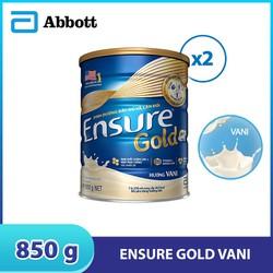 Combo 2 lon sữa bột Ensure Gold Vani 850g