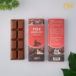 [Chính hãng] Bar 20gr- Milk Chocolate, Kẹo Socola sữa 50% Cacao Figo nhân Hạt Nibs tan ngay trong miệng, Ăn là Nghiện