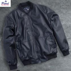 Áo khoác da lót lông nam thời trang cao cấp pious AKD081 đen