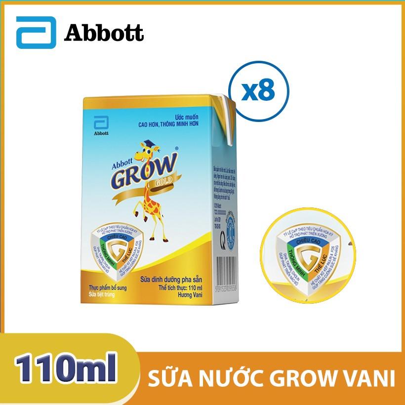 Bộ 2 lốc 4 hộp sữa nước Abbott Grow Vani 110ml