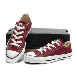 Giày Bata Thể Thao Classic Nam Màu Đỏ Đô Cổ Thấp
