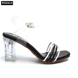 Dép nữ cao gót 7P quai trong Rozalo R6917 - 6917 thumbnail