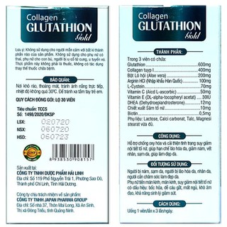 Viên Uống Trắng Da Collagen Glutathion gold - thành phần sâm tố nữ, Arginin HC.L nhập khẩu Hàn Quốc- Giúp tăng cường nội tiết tố, hết nám, sạm da, đẹp da - Viên uống trắng da c - thành phần sâm tố nữ, 2