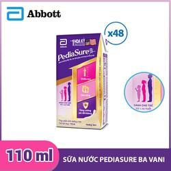 Thùng 48 hộp sữa nước Pediasure BA hương Vani 110ml