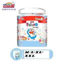 Tã Quần Goon Friend Doremon Gói Cực Đại XXL34-XL40-L46-M54 + tặng thêm 6 miếng tiết kiệm hơn (pack mới)