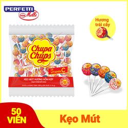 Kẹo mút Chupa Chups Hương Trái Cây Hỗn Hợp (Gói 50 Viên)
