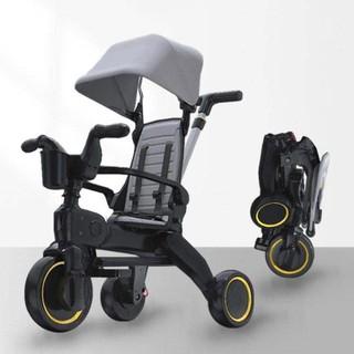 Xe đẩy 3 bánh cho bé 3in1 kiêm xe chòi chân ngã lưng 3 cấp độ siêu gấp gọn, dành cho bé từ 1 - 5 tuổi trọng tải 40kg - xe3chan thumbnail