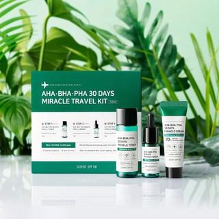 Bộ Kit Dưỡng Da Mụn Some By Mi AHA-BHA-PHA 30 Days Miracle Travel Kit (3 Items Toner, Serum, Cream) - 8365782 thumbnail