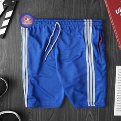 Quần short thể thao nam vải mềm 3 sọc từ 45 - 75kg