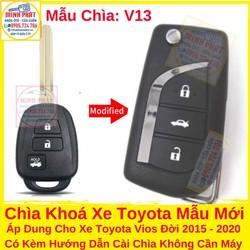Chìa Khoá Gập Xe Toyota Vios 2015 Đến 2020