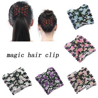 Lược cài tóc đôi phối hoa tạo kiểu tóc xinh xắn - gdm895 thumbnail