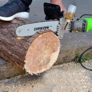 [LOẠI XỊN] Lưỡi cưa xích gắn máy mài - Bộ chuyển đổi máy mài thành máy cưa - Cưa cây - Cắt gỗ - Cắt cành - Có bình tra dầu tự động - Thép tinh luyện chiu nhiệt tốt [ĐƯỢC KIỂM HÀNG] 35432571 - 35432571 thumbnail