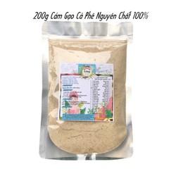 Bột Cám Gạo Cà Phê 200g có giấy VSATTP và ĐKKD nguyên chất thiên nhiên 100% dùng để đắp mặt đa công dụng