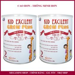 [Combo 2 lon] Sữa công thức tăng chiều cao, phát triển trí não cho trẻ Kid Excilent Gro Plus lon 900g