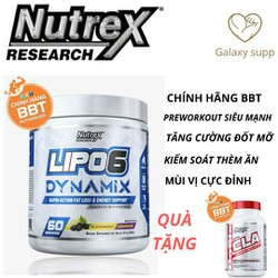 Lipo 6 Dynamix Pre-workout Tăng Sức Mạnh Kiêm Đốt Mỡ