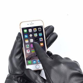 Găng tay da cảm ứng dùng điện thoại - Găng tay da nữ SANG TRỌNG thumbnail