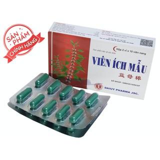VIÊN ÍCH MẪU hỗ trợ điều hoà nội tiết nữ, cân bằng nội tiết tố hộp 20 viên - VIÊN ÍCH MẪU thumbnail
