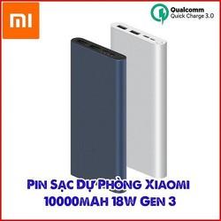 Pin Sạc Dự Phòng Chính Hãng Xiaomi 10.000mAh Gen 3 Bản Sạc Nhanh 18W