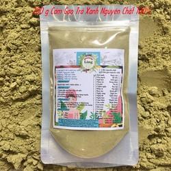 Bột Cám Gạo Trà Xanh 200g có giấy VSATTP và ĐKKD nguyên chất thiên nhiên 100% dùng để đắp mặt đa công dụng