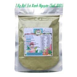 Bột Trà Xanh 1 Kg có giấy VSATTP và ĐKKD nguyên chất thiên nhiên 100% dùng để đắp mặt đa công dụng
