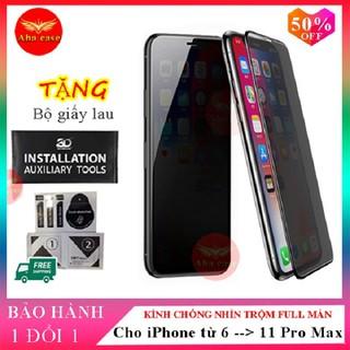 [CHÍNH HÃNG + FREE SHIP] Kính Cường Lực Chống Nhìn Trộm iPhone SD DESIGN ip 6,6s, 6 plus, 6s plus,7, 7 Plus, 8, 8 Plus,X, Xs, Xr, Xs Max, 11, 11Pro, 11 ProMax - Tất cả đều là kính Full Màn hàng chính hãng SD DESIGN + Tặng kèm bộ giấy lau - Kính Cường Lực Chống Nhìn Trộm iPhone thumbnail