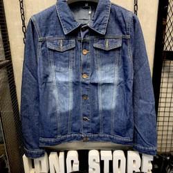 [FLOW giảm 10k] Áo khoác Jeans Áo khoác bò trơn Nam Nữ Unisex KJ ,cotton thun co giãn cao cấp