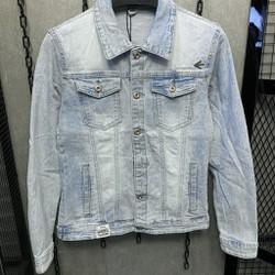 [FLOW giảm 10k] Áo khoác Jeans Áo khoác bò Nam Nữ Unisex KJ7822 ,cotton thun co giãn cao cấp