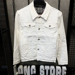 [FLOW giảm 10k] Áo khoác Jeans Áo khoác bò Nam Nữ Unisex KJ ,cotton thun co giãn cao cấp