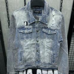 [FLOW giảm 10k] Áo khoác Jeans DQ2 Áo khoác bò Nam Nữ Unisex KJ36507 ,cotton thun co giãn cao cấp