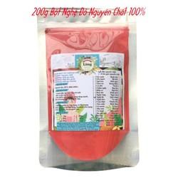 Bột Nghệ đỏ 200g có giấy VSATTP và ĐKKD nguyên chất thiên nhiên 100% dùng để đắp mặt đa công dụng