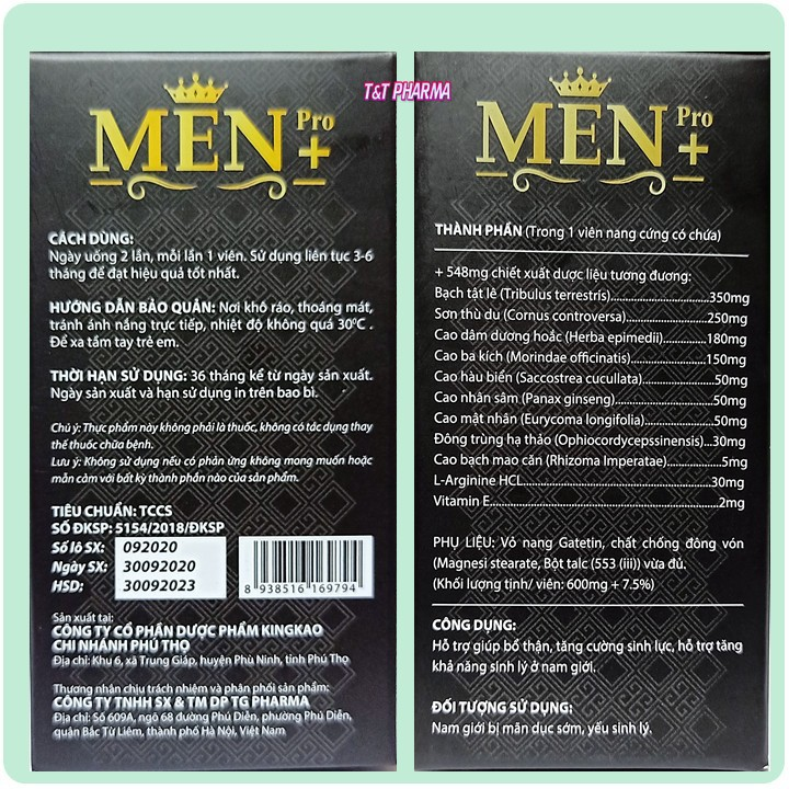Viên Uống Tăng cường sinh lý cực mạnh Men Pro - Giúp tăng cường sinh lý mạnh hơn, bền vững hơn- hôp 30 viên - cường sinh lý cực mạnh Men Pro 7