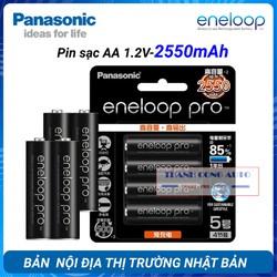 [ Chính hãng] Vỉ 4 viên Pin Sạc AA PANA SONIC ENELOOP PRO 2550mAh (Bản Nội Địa Thị Trường Nhật Bản)