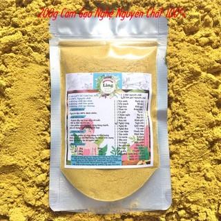 Bột Cám gạo Nghệ 200g có giấy VSATTP và ĐKKD nguyên chất thiên nhiên 100% dùng để đắp mặt đa công dụng - Cám gạo Nghệ - 02 thumbnail