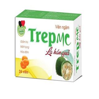 Viên ngậm la hán quả TREP MC - HSD 2023 - giúp giảm ho, mát họng, nong đờm hiệu quả - Hộp 24 viên chuẩn GMP bộ y tế - Viên ngậm la hán quả TREP MC thumbnail