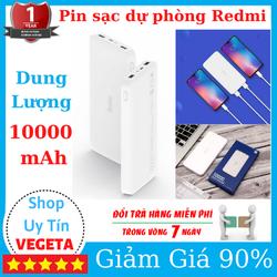 Pin sạc dự phòng Redmi 10000mAh Thiết kế tinh tế nhỏ gọn, dung lượng pin lớn và cho khả năng sạc nhanh