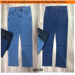 Quần jean nam ống suông [Straight Fit] Big size QN236