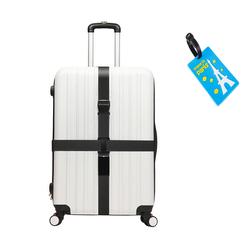 [SHIP HỎA TỐC]-Dây khóa Vali chữ thập kèm thẻ hành lý, màu ngẫu nhiên
