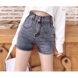 Quần short jean nữ Big Size lưng cao trên rốn, co dãn mạnh, lưng 2 nút phom rộng rãi dành cho người béo 90kg 3516