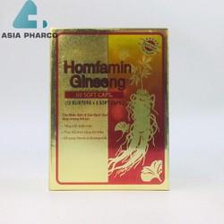 Homfamin Ginseng Cao nhân sâm, cao bạch quả, tăng cường thể lực hộp 60 viên