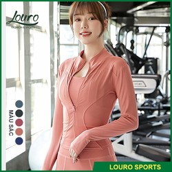 Áo Khoác Thể Thao Nữ Louro Akl12  Mẫu Áo Khoác Nữ Mùa Đông Dài Tay  Chất Liệu Co Giãn  Phù Hợp Tập Gym  Yoga  Zumba